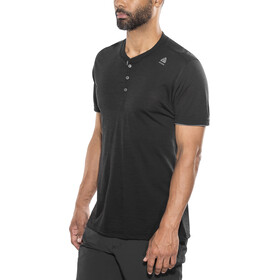 Aclima LightWool T-shirt à col tunisien Homme, jet black/iron gate